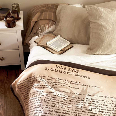 Jane Eyre Sherpa Fleece Book Blanket