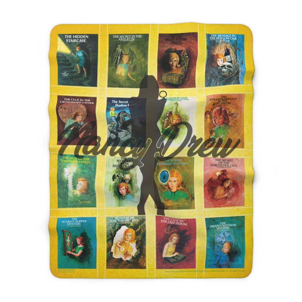 Nancy Drew Sherpa Fleece Book Blanket