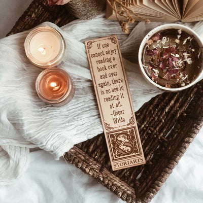 Oscar Wilde Leather Quote Bookmark