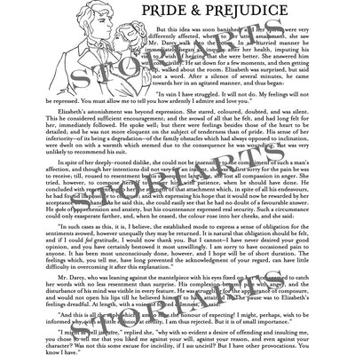 Pride and Prejudice Book Scarf - SECOND EDITION