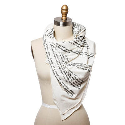 Pride and Prejudice Lightweight Literary Scarf