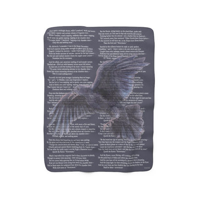 The Raven Sherpa Fleece Book Blanket