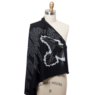 The Raven Lightweight Literary Scarf
