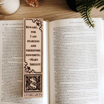 Mary Shelley Leather Quote Bookmark