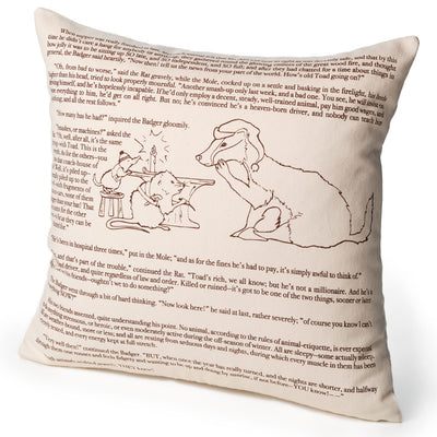 The Wind in the Willows Pillow Cover