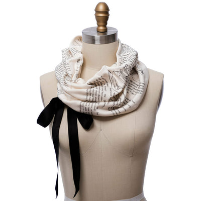 Alice In Wonderland Ribbon Book Scarf