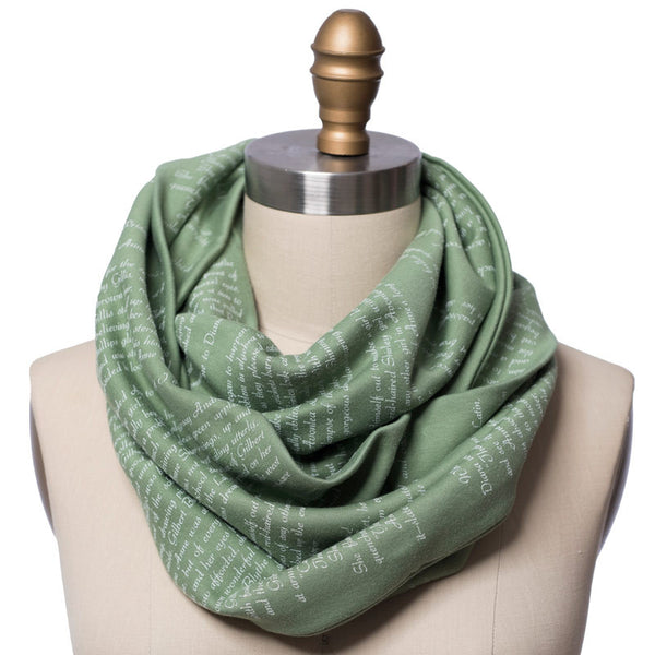 Anne Of Green Gables Book Scarf Infinity Scarf With Book