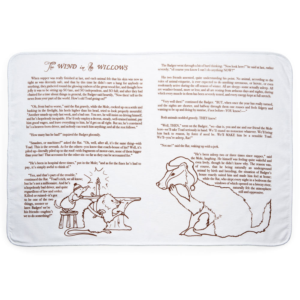 The Wind in the Willows Storybook Baby Blanket