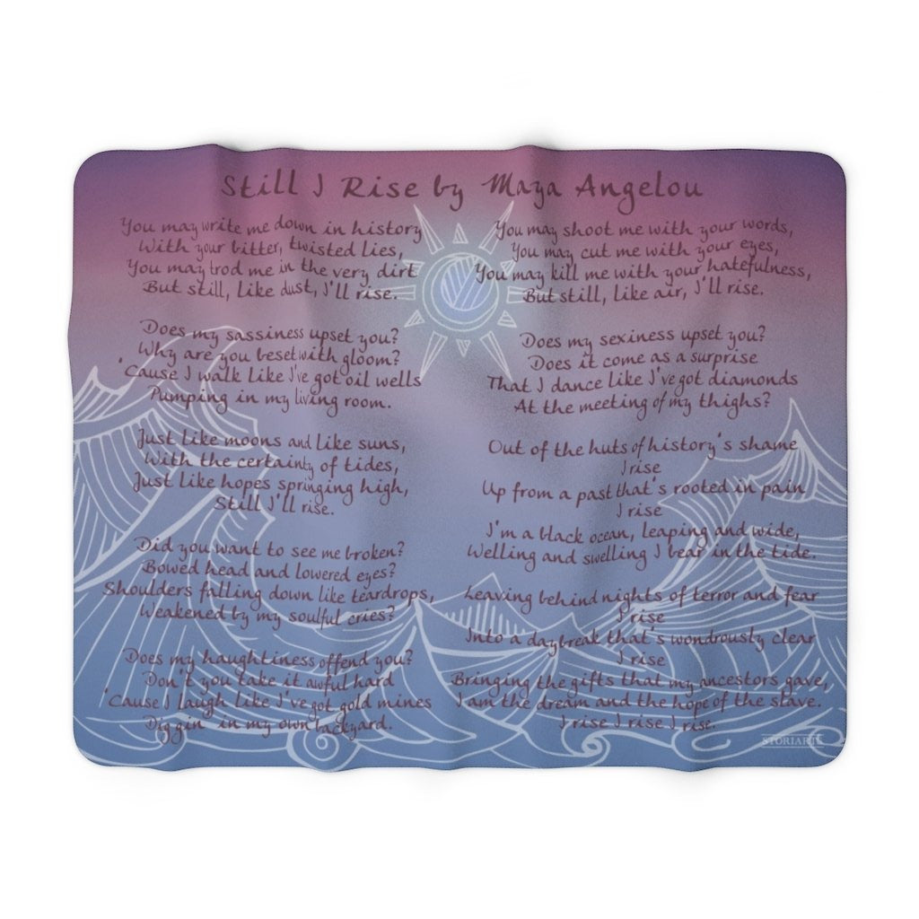 Still I Rise Sherpa Fleece Book Blanket