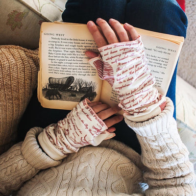 Little House on the Prairie Writing Gloves