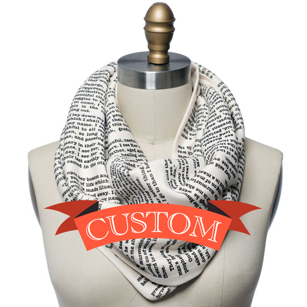 Custom Book Scarf