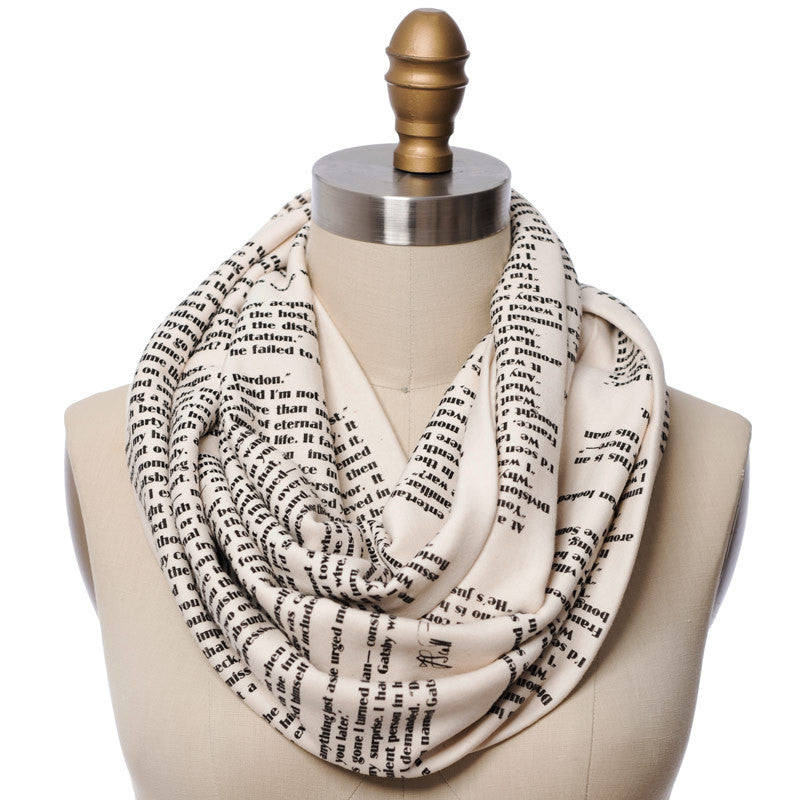The Great Gatsby Book Scarf - Storiarts - 1
