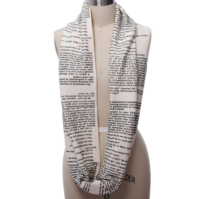 Jane Eyre Book Scarf Charlotte Bront 235 Infinity Scarf