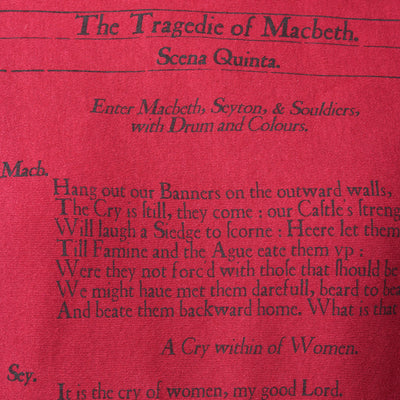 Macbeth Book Scarf