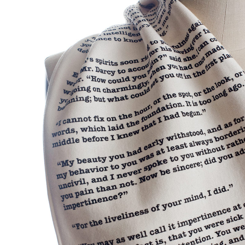 Pride and Prejudice Book Scarf - Storiarts - 2