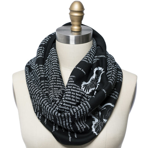 The Raven by Edgar Allan Poe Book Scarf - Storiarts - 1