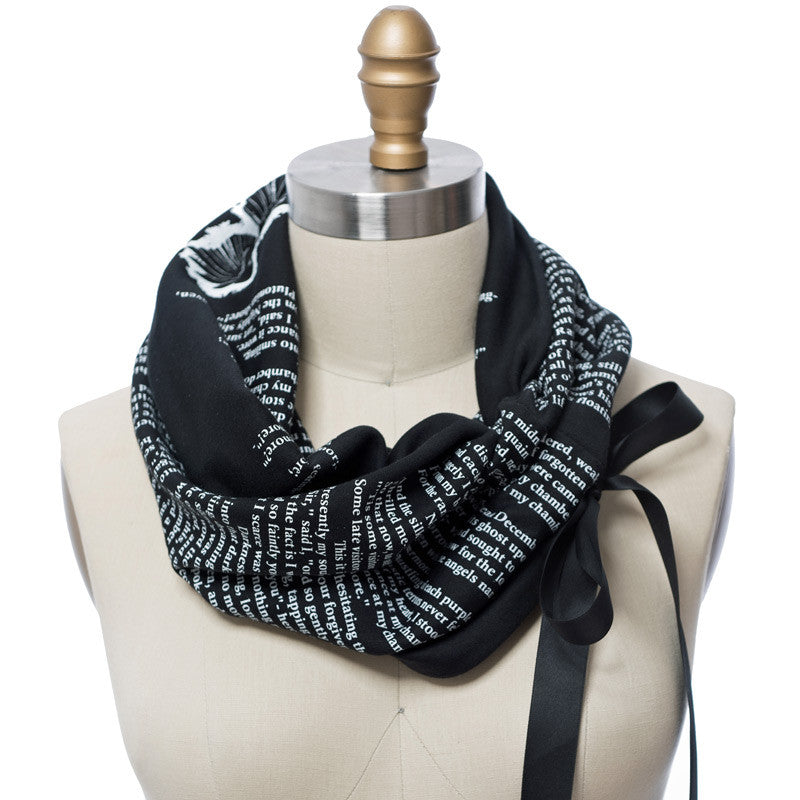 The Raven Light Weight Summer Book Scarf - Storiarts - 2