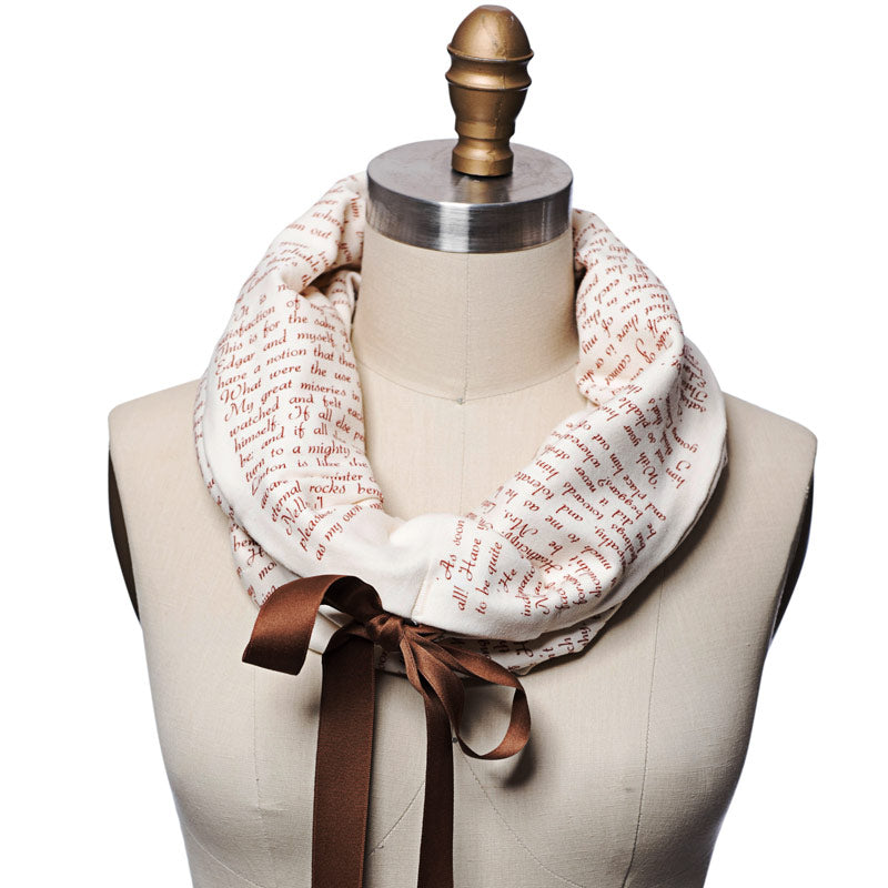 Wuthering Heights Ribbon Book Scarf