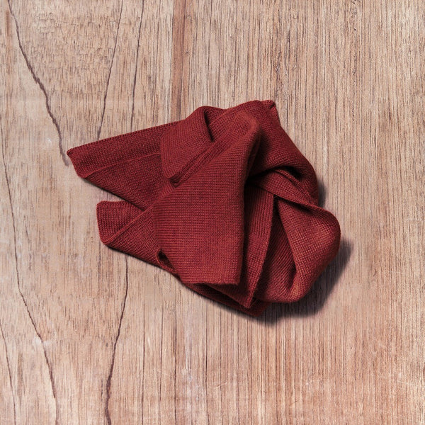 Scarf – RUBY-RED – 100% Baby Alpaca Wool