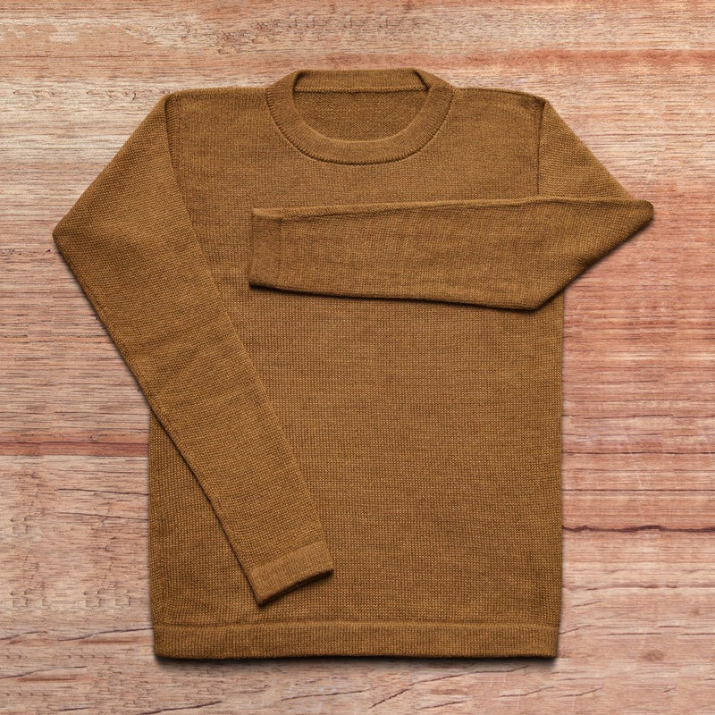 Sweater made of baby alpaca wool in the color brown