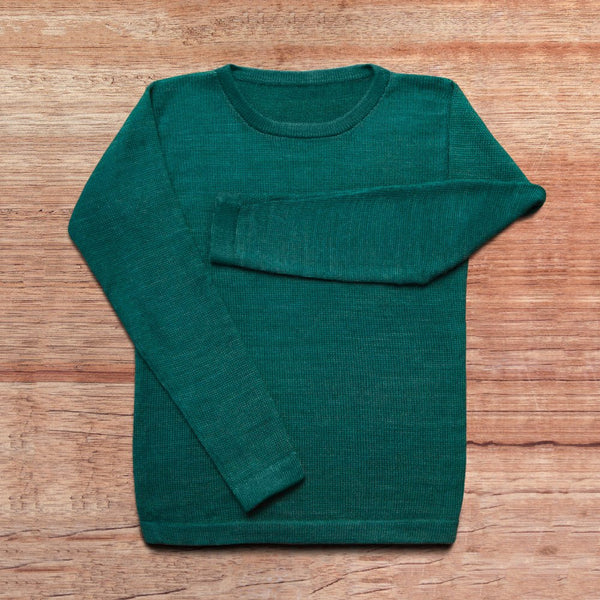 Sweater made of baby alpaca wool in the color emerald