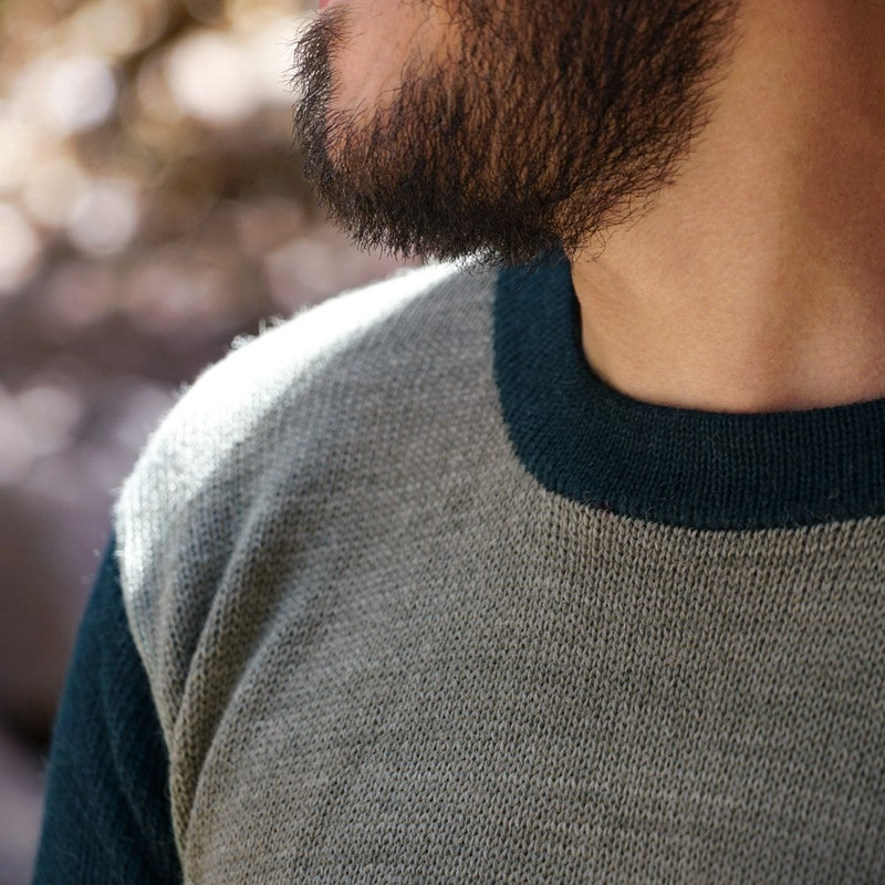 Sweater Men – Jade-Green + Night-Blue