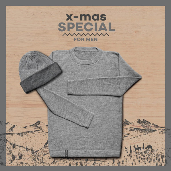 Package – Sweater + Beanie – Men – SILVER