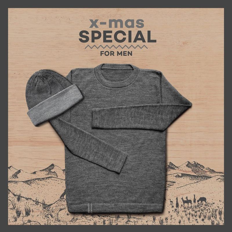 Package – Sweater + Beanie – Men – STONE
