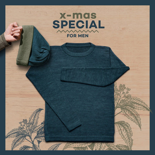 Package – Sweater + Beanie – Men – NIGHT-BLUE