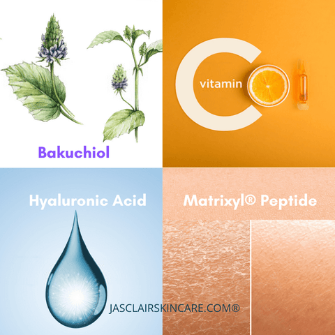 Bakuchoil Serum with Vitamin C, Hyaluronic Acid and Matrixyl Peptie