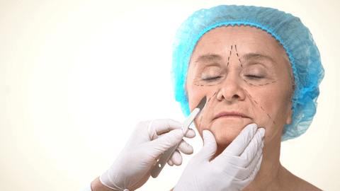 Dermaplaning facial using a scalpel