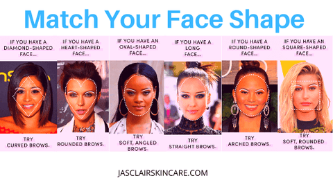 Select your eyebrow shape to match with your face shape