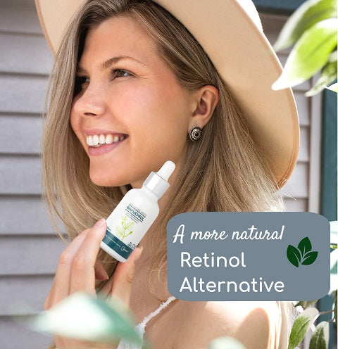 Bakuchiol serum is a perfect alternative to using retinol.   Bakuchiol is a natural alternative than using retinol based products and is more skin friendly without the irritation of retinol.