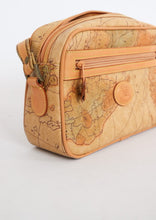 Load image into Gallery viewer, Vintage Camel Map Leather Bag