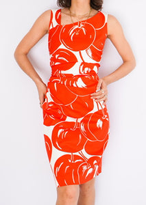 Vintage Max Mara Cherry Printed Dress (S)