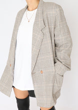 Load image into Gallery viewer, Vintage Grey Houndstooth Wool Blazer (S-L)