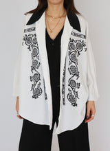 Load image into Gallery viewer, Vintage Black & White Patterned Blouse (S-L)