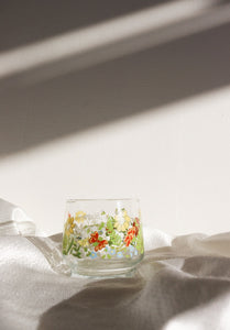 Vintage Dainty Floral Solo Glass