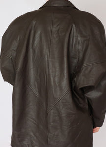 Vintage Danier Dark Chocolate Leather Blazer (S)