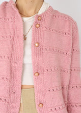 Load image into Gallery viewer, Vintage Bubblegum Wool Knit Cardigan (S, M)