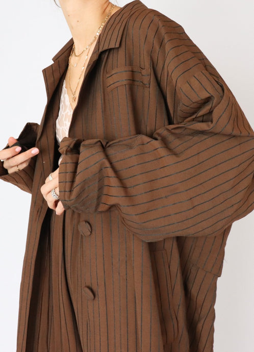 Vintage Chocolate Pinstripe Set (M)