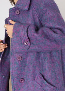 Vintage Cotton Candy Mohair Coat (S)