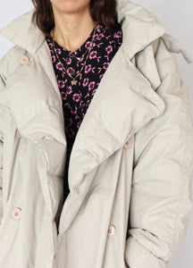 Vintage Beige Cotton Down Puffer (M, L)