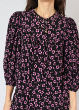 Load image into Gallery viewer, Zara Bright Pink Floral Button-up Dress (S)