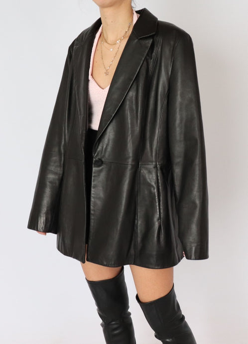 Vintage Danier Leather Blazer (S-L)