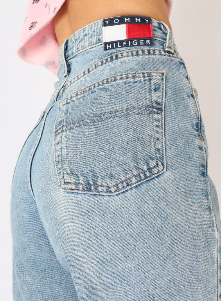 Vintage Tommy Hilfiger Light Wash Denim (S, M)