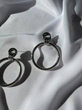 Load image into Gallery viewer, Vintage Silver Large Knotted Hoops