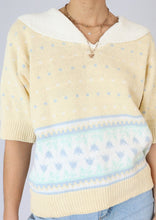 Load image into Gallery viewer, Vintage Butter Yellow Collared Cotton Sweater (S, M)