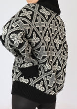 Load image into Gallery viewer, Vintage Cross Patterned Wool Knit Cardigan (M, L)