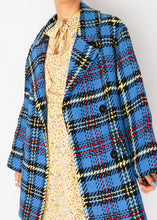 Load image into Gallery viewer, Zara Blue Plaid Jacket (XS, S)